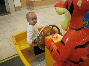 Mall fun with Tigger