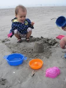 Yay! Sand castle!