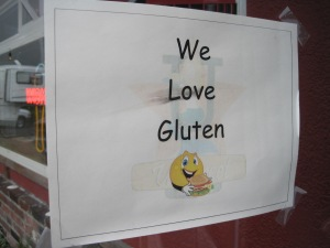 Hey, greasy pub, you love gluten? I love gluten too!