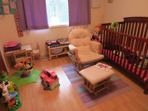 The current state of Sonja's Room (Crib, chair, window angle)