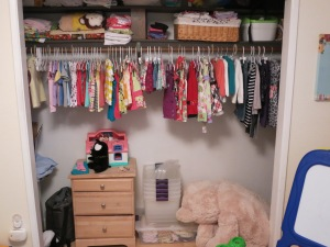 An extended view of Sonja's closet,