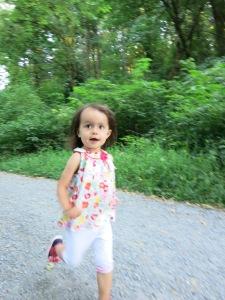 Big girl running