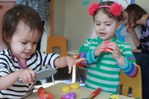 Sonja and preschool friend