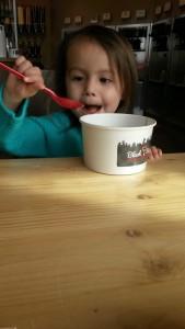 Mother/Daughter frozen yogurt day. I'm thinking of instituting these on a more regular basis.Because frozen yogurt.