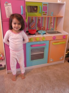 Sonja and her new kitchen.