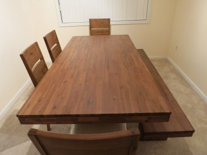 The long-awaited table.