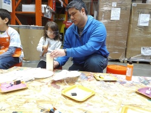 Kids' Build day at the Home Depot.