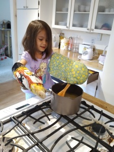 Helping Mom cook
