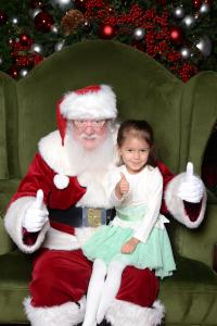 Thumbs up with Santa